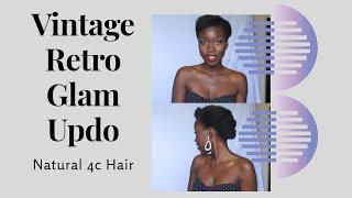 getlinkyoutube.com-Vintage Retro Glam  Updo on Short Natural Hair
