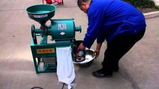 getlinkyoutube.com-Wheat flour mill machine for home use 2015(English Subtitles)