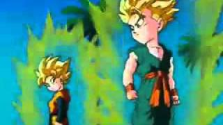 getlinkyoutube.com-Goten y Trunks se fusionan en super sayayin (LATINO)