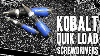 getlinkyoutube.com-Kobalt QL3 Quik Load Screwdrivers