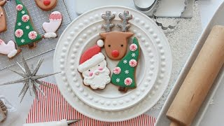 getlinkyoutube.com-How to Decorate Simple Christmas Cookies with Royal Icing