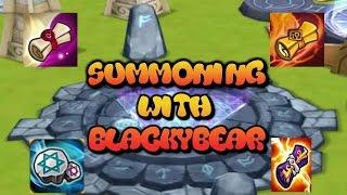 getlinkyoutube.com-Summoner war  summoning session Legendary, mystical, fire, light & dark, exclusive summons