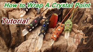 getlinkyoutube.com-How to Tutorial macrame wrapped crystal point stone with waxed cord