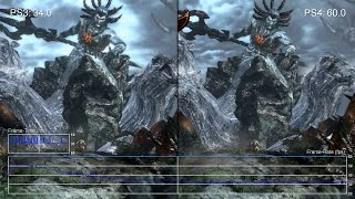 [60fps] God of War 3 Remastered: PS4 vs PS3 'Gaia' Gameplay Frame-Rate Test