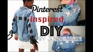Pinterest Inspired, Denim Jacket DIY BY Jenge Marie