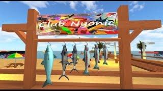 getlinkyoutube.com-Let's play Roblox:☺CLUB NYONIC☺~ Fish, Surf, Swim, Boat, Tube
