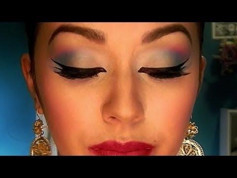 Maquillaje Folklorico (peticion: turqueza, fushia, amarillo)