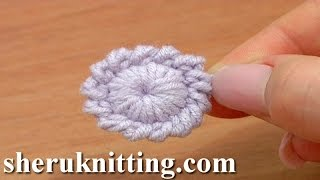 getlinkyoutube.com-Crochet Round Button Element Tutorial 6 Long Single Crochet
