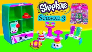 getlinkyoutube.com-Shopkins Season 3 Playset Cool Casual Collection Fashion Spree Exclusive Wardrobe Shoes Toy Video
