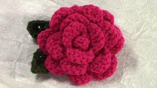 getlinkyoutube.com-DIY Crochet Flower, Tutorial, Crochet Flower/ Leaf Pattern