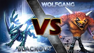 Skylanders Trap Team - Blackout VS Wolfgang