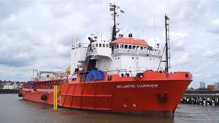 getlinkyoutube.com-offshore supply vessel ATLANTIC CARRIER arriving at Great Yarmouth 29/6/16