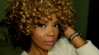 getlinkyoutube.com-AFFORDABLE OMBRE BLONDE CURLY FRO ! (STYLE BP13)
