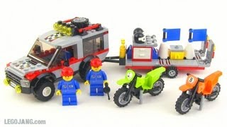 getlinkyoutube.com-LEGO City Dirt Bike Transporter 4433 review!