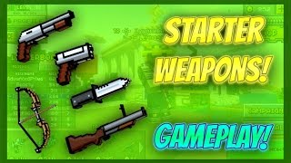 getlinkyoutube.com-Pixel Gun 3D - Starter Weapon Gameplay!
