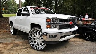 "getlinkyoutube.com-WhipAddict: First 2015 Chevrolet Silverado Z71 on 32"" brushed  AF821 Asanti Wheels"