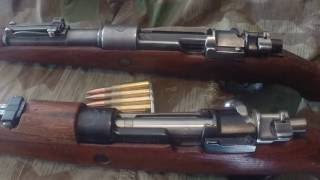 The difference Between a German Kar98K and a Yugoslavian M48 Mauser Rifle