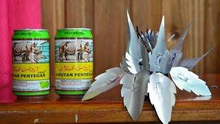 getlinkyoutube.com-cara membuat bunga dari kaleng bekas