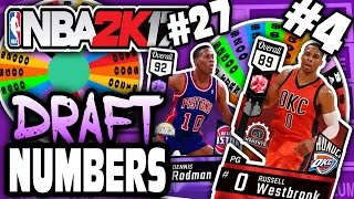 SPIN THE WHEEL OF DRAFT NUMBERS! NBA 2K17 SQUAD BUILDER