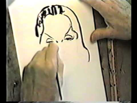 Part 1 of 5: Milt Caniff draws Dragon Lady, talks to Shel Dorf