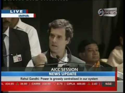 Speech by Rahul Gandhi at the AICC Chintan Shivir in Jaipur - 2013