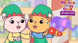 getlinkyoutube.com-Cute Christmas Cats | Elves in Santa's Workshop | Mother Goose Club Playhouse Kids Song