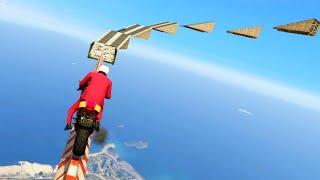 INTENSE SKY-HIGH BIKE JUMPS! (GTA 5 Funny Moments)