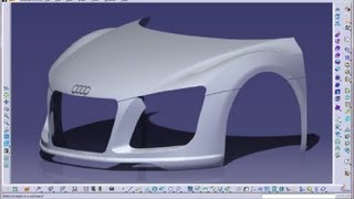 Catia V5 Tutorials|Wireframe and Surface Design|Multi Section Surface|3 Guide Curves