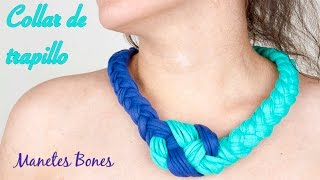 getlinkyoutube.com-Collar trapillo nudo marinero   Tutorial crochet XXL
