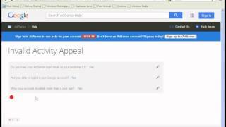 getlinkyoutube.com-Google Adsense Account Disabled for invalid click  100%  Enable