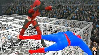 getlinkyoutube.com-Spider-Man vs Deadpool  - EPIC BATTLE - WWE 2K15
