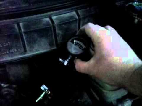 Измерения уровня давления топлива Opel Astra (C18NZ)