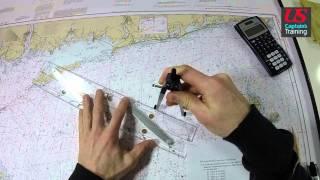 Captain License Chart Navigation – Set and Drift Practice Problem 1