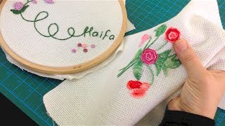getlinkyoutube.com-غرزة الركوكو - تطريز Bullion knot - Rococo embroidery