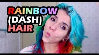 getlinkyoutube.com-[Tutorial] Cabelo colorido arco-íris: como pintar com várias cores / rainbow (dash) hair