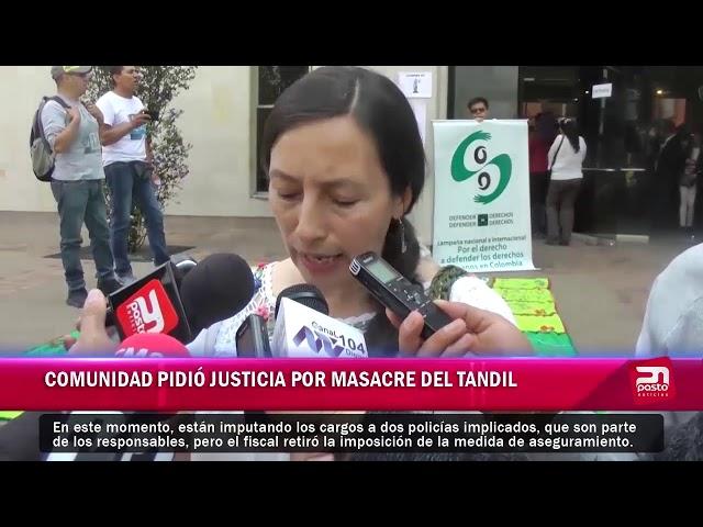 COMUNIDAD PIDIÓ JUSTICIA POR MASACRE DE TANDIL