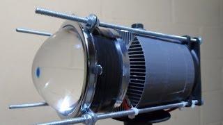 getlinkyoutube.com-Teste Lanterna LED 100W 9000LM VS 3X XML-T6 3800LM.