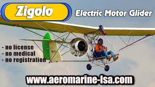 Zigolo MG 12 electric ultralight motorglider available from 25 to 75 HP!
