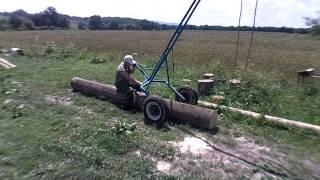 getlinkyoutube.com-Візок для транспортування Колод(Trolley for transporting logs)