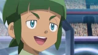 getlinkyoutube.com-Pokémon XY&Z - Kalos League - Satoshi (Ash) vs. Shota (Sawyer) Japanese - Part 1