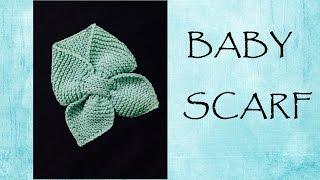 getlinkyoutube.com-[Knitting] Baby scarf | Hướng dẫn đan khăn tai thỏ