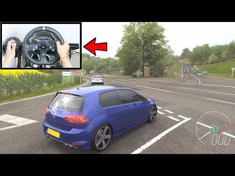 Forza Horizon 4 Volkswagen Golf R (Steering Wheel + Shifter) Gameplay