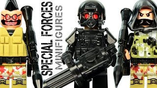getlinkyoutube.com-LEGO Brick Warfare: Special Forces Tactical Assault Team KnockOff Minifigures w/ Sniper & Gunner