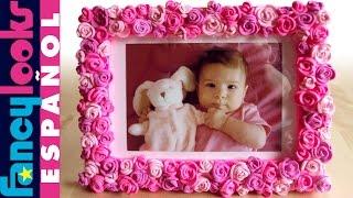getlinkyoutube.com-Cómo hacer Marco de rosas de goma Eva