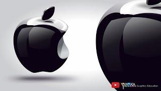 3D Apple logo Using Coreldraw x7