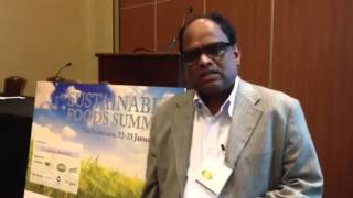 High Quality Organics\' CEO, Raju, at the Sustainable Foods Summit