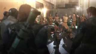 Metal Gear Solid V The Phantom Pain - CQC Soldiers Scene