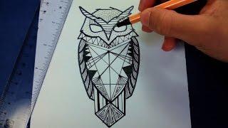getlinkyoutube.com-Como desenhar uma coruja