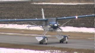 getlinkyoutube.com-DeHavilland Turbo Beaver DHC-2 MK.III Great Landing