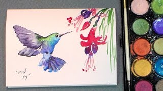 getlinkyoutube.com-Paint a quick hummingbird in watercolors {quick & easy!}